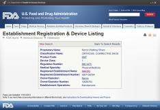 FDA 등록증